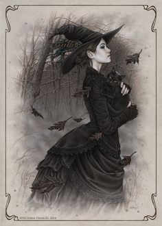 ImageFind images and videos about art, witch and victoria frances on We Heart It - the app to get lost in what you love. Halloween Art, Vintage Halloween, Halloween Witches, Happy Halloween, Halloween Coffin, Creepy Vintage, Gothic Halloween, Halloween Table, Halloween Signs