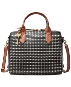 Fossil Fiona Printed Satchel - Fossil - Handbags & Accessories - Macy's
