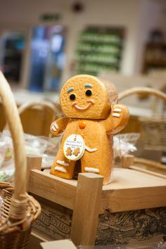 Gingerbread man biscuit jar Gingerbread Man, Gingerbread Cookies, Farm Shop, Bury, Biscuit, Food And Drink, Toys, Gifts, Cookie Favors