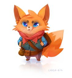 Art by Landa-B (Victoria Landa)   #concept #art #Characters #antro #animals #fox #traveler #CHARACTER #DESIGN  #landa-b #victorialanda #cartoon