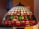 For Sale - Tiffany Reproduction Stained Glass Lamp Shade Pomegranate -  16 inches Wide