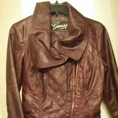 Guess moto jacket Guess moto jacket . Only worn a couple of times willing to trade and negotiate! Guess Jackets & Coats Jean Jackets