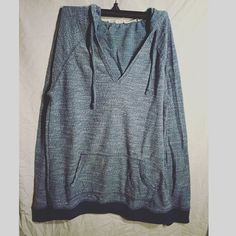 {Roxy} Blue Beach Hoodie Blue Beach Hoodie, only worn once. In excellent condition! Roxy Tops Sweatshirts & Hoodies