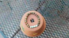 Unakite and Aqua Glass Opaque beads Stretchy Bracelet with Silver Spacers by MamaPajamaJan on Etsy