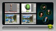 Trabalhos produzidos no curso Personagem Básico: www.tonka3d.com.br/curso-3ds-max-personagem-basico.html