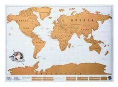 Luckies LUKSCR Rubbel-Weltkarte, 81,9 x 58,2 x 0,1 cm: Luckies of London Ltd.: Amazon.de: Küche & Haushalt