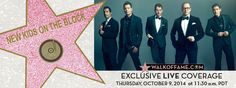 Hollywood Chamber invites you to watch NKOTB Hollywood Walk of Fame Ceremony Live on Oct 9, 2014 at 11:30 am. www.walkoffame.com