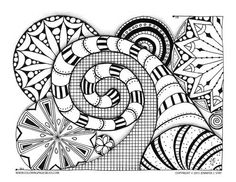 Stunning coloring page for adults. Lots of detail to color on this printable coloring page. Hand drawn art to inspire you.