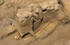 Peru archaeologists find hall for human sacrifice  A skeleton from the ancient Moche culture, which is recently excavated and found in a tomb, is seen at the San Jose de Moro Archaeological site in Trujillo [Credit:Reuters/Mariana Bazo]