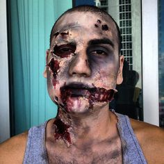 Zombie FX Makeup by me #zombie #fxmakeup