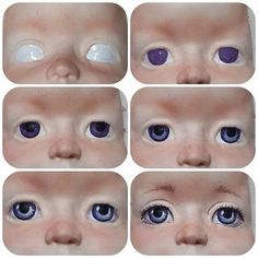 Discover thousands of images about ♔ How to make Unique Dolls Doll Eyes, Doll Face, Doll Crafts, Clay Crafts, Ooak Dolls, Art Dolls, Clay Baby, Polymer Clay Dolls, Paperclay