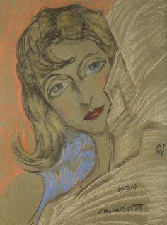 Stanisław Ignacy Witkiewicz / Witkacy (1885 Warszawa - 1939 Jeziory na Polesiu)… Drawing Faces, Drawings, Portraits, Disney Characters, Fictional Characters, Aurora Sleeping Beauty, Objects, Auction, Deco