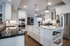 kitchens with carrera marble countertops - Google Search