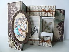 awesome tutorial for tri-shutter card Tri Fold Cards, Folded Cards, Trifold Shutter Cards, How To Make Greetings, Workshop, Shutters, Making Ideas, Cardmaking, Greeting Cards
