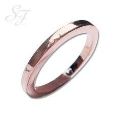 14K Rose Gold Wedding Band Anniversary by gregoryhalljewelry, $140.00