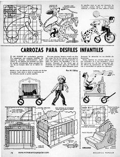 Carrozas Para Desfiles Infantiles - Diciembre 1964