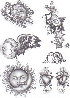 Tattoo Flash - girly by cynthiardematteo.deviantart.com on @deviantART