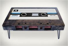 Cassette Tape Coffee Table - Yes please!