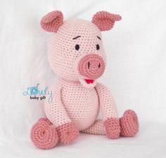Porcelet au Crochet motif rose cochon Amigurumi par LovelyBabyGift