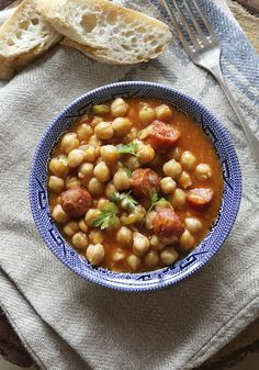 Chickpea, Spinach, and Sausage Stew