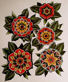 Mandala flowers - I like these a little better than the roses for a cover up