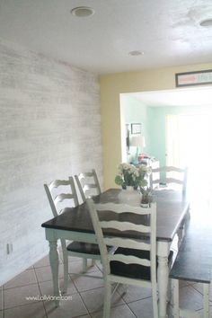 Faux Wood Wallpaper Walls Republic Review WallpaperBoardFarmhouse Dining RoomsWoodsPlanked
