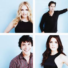 The 100 cast || Eliza Jane Taylor, Henry Ian Cusick, Bob Morley and Marie Avgeropoulos || Clarke Griffin, Marcus Kane, Bellamy Blake and Octavia Blake