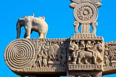 Sanchi Stupa in Madhya Pradesh, India  Dated: 2nd century BCE