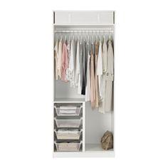 PAX Kleiderschrank - 100x60x236 cm, Scharnier, sanft schließend - IKEA