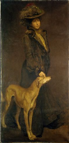Stephen Seymour Thomas (1868–1956). Mrs. S. Seymour Thomas, ca. 1902. The Metropolitan Museum of Art, New York. Gift of William A. Read, 1915 (15.15) #dogs