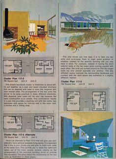 Vintage Architecture, Architecture Plan, Architecture Graphics, Landscape Architecture, Vintage House Plans, Modern House Plans, Hillside House, Architectural Prints, Craftsman Style House Plans