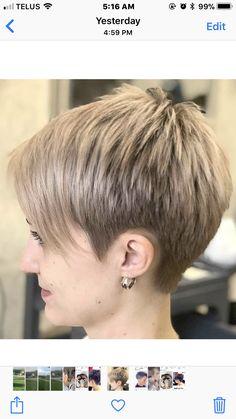 New Short Hairstyles - December 23 2018 at Haircut Styles For Women, Haircut For Older Women, Short Haircut Styles, Best Short Haircuts, Cute Hairstyles For Short Hair, Pixie Hairstyles, Glasses Hairstyles, Pixie Haircuts, Short Grey Hair
