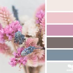This is such a beautiful color palette and the flowers perfectly represent the choice of colors.