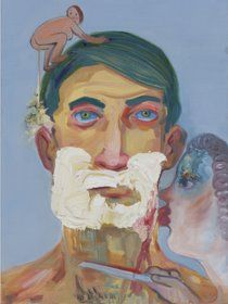 Nicole Eisenman, Little Shaver, Oil on canvas, 24 x 17 ½ in. x 45 cm) Jewish Art, Expositions, Art For Art Sake, Art And Illustration, Love Painting, Heart Art, Sculpture, Contemporary Paintings, American Artists