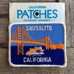 Sausalito California Vintage Souvenir Travel Patch from Holm Patches by HeydayRoadTrip on Etsy