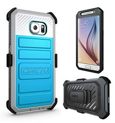 Galaxy S6 Case, CINEYO(TM) Heavy Duty Belt Clip Holster Case For Samsung Galaxy S6 Full-body Rugged Hybrid Protective Cover with Swivel Belt Clip (Samsung Galaxy S6 case Black) (Blue)   Galaxy S6 Case, CINEYO(TM) Heavy Duty Belt Clip Holster Case For Samsung Galaxy S6 Full-body Rugged Hybrid Protective Cover with Swivel Belt Clip (Samsung Galaxy S6 case Black) (Blue) Compatibility: Compatible with Samsung Galaxy S6, allowing full access to touchscreen, camera, buttons, and ports. Mat..