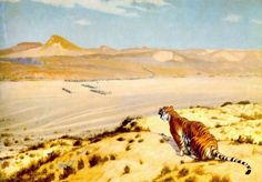 Tiger on the Watch 2 by Jean Leon Gerome    Artist: Jean Leon Gerome