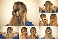 DIY Wedding Hairstyle Tutorial For Long Hair ♥ Simple Wedding Bow Hairstyle