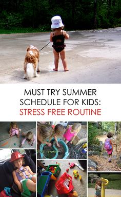 Summer Schedule for Kids :: How to Create a Stress Free Routine *love the combination of structure and spontaneity ... this is a must-read for parents