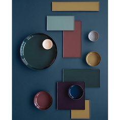 Color block __ #green #blue #purple #grape #yellow #mustard #lightblie #ceramics #tiles #palette #table #set #decor #inspiration #color #block #inspiration #interior #interiors #architecture #vscocam