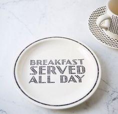 City Diner Salad Plate Set - Breakfast Served All Day $40 westelm.com