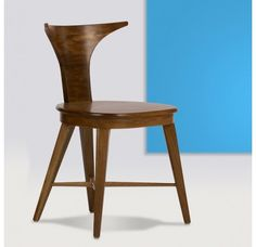This is the Alessandro chair. They are hand carved from natural trumpet wood in honor of Alexander the Great.