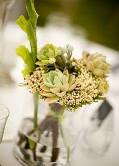 bridal flower arrangements green | smaller wedding table floral arrangement .