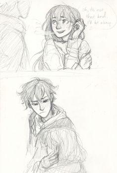 Oreki and Chitanda | by Burdge | Hyouka | Anime 》this art of chitanda and oreki is so awesome