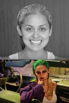 Before and After: Joker Suicide Squad Makeup by Christen Dominique