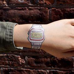 """""""late"""" #tattoo #sticker"""
