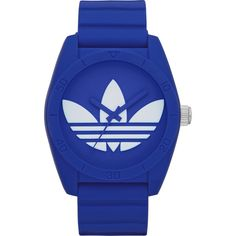 Adidas Unisex ADH6169 Santiago Blue Watch (190 BRL) found on Polyvore featuring women's fashion, jewelry, watches, accessories, blue, leather-strap watches, blue wrist watch, blue crown, steel watches and unisex jewelry