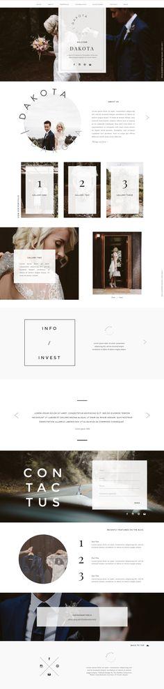 Dakota - Showit Premium Photography Website Template Design