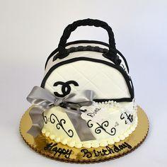 Chanel Purse Cake  www.realbuttercream.com