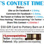 http://www.facebook.com/OutstandingResultsPainting is having this awesome, fun & easy contest! Enjoy. : )